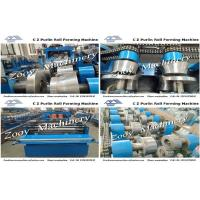 China  Adjustable Length, Holes And Quantity C Z Sigma Purlin Cold Roll Forming Machine With YASKAWA Inverter  for sale
