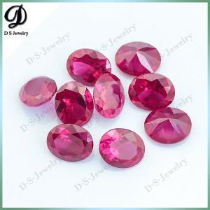 Buy cheap Vermelho semi precioso oval do rubi dos rubis do corte de máquina da forma da qualidade do AAA para a venda product