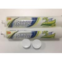Buy cheap Transparent Plastic Barrier Laminated Desensitizing Toothpaste Tube / Plastic Squeeze Tubes product
