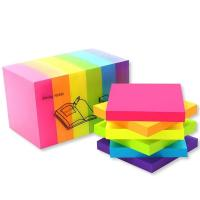 Buy cheap Fluorescent index plastic sticky note colorful PET page marker adhesive sticky note Memo Pads product