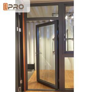 Buy cheap Customized Design Aluminium Hinged Doors For Construction Buildings stainless steel glass door hinge Door hinge black product
