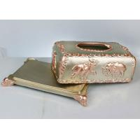 Buy cheap Custom Pattern Resin Decoration Crafts , 260*160*130mm Household Napkin Box product