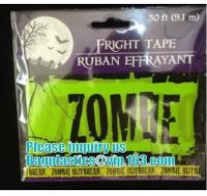 Buy cheap Halloween Caution Tape , Custom Printing Caution Tape Halloween Banner,Halloween Caution Tape zebra tape bagease pack product