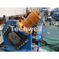 Buy cheap PLC Electrical Control Hat Profile Cold Roll Forming Machine With 1.5 Inch Chain Transmission product