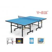 China Economic Indoor Full Size Ping Pong Table Single Folding Movable Easy Install wholesale