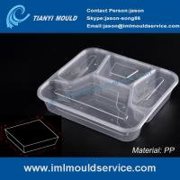 Buy cheap disposable 4 compartment plastic thin wall lunch PP container and box mould product