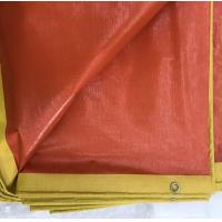 Buy cheap Custom Red Plastic Heavy Duty Tarpaulin Sheet For Sports Grass Fields Covers product