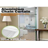 Buy cheap Durable Aluminum Insect Door Fly Screen Chain Curtain For House Decoration product