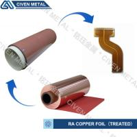 Buy cheap High Flexibility 25UM / 35UM / 50UM RA Copper Foil For Fine Circuit FPC product