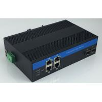 Buy cheap 10/100/1000Mbps Industrial Fiber Media Converter 4 RJ45 To 2 Fiber With Single Mode / Multimode product