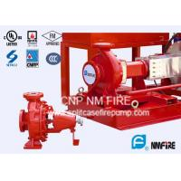 Buy cheap NFPA20 Standard End Suction Fire Pump 250GPM@100PSI Ductile Cast Iron Casing product