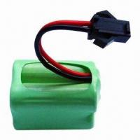 Buy cheap NiMH Rechargeable Battery Pack with 2,500mAh Capacity, Low Self-discharge, Suitable for Flashlight product