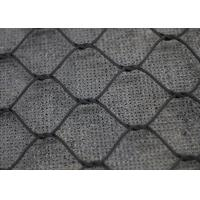 Weatherproof SS316 Knotted Rope Mesh , Black Oxide Wire Cable Netting for sale