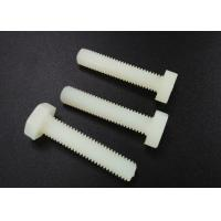 China M5 X 10 Beige Nylon Hex Head Screws PA 66 UL 94V-2 Flat Point For Car Industry wholesale