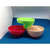 Plastic Kids Melamine Salad Bowl With SGS FDA Houseware Acid Resistance