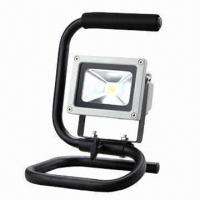 Buy cheap 10W LED Floodlight with Stand, High Lumen Output and IP65 Waterproof Level product