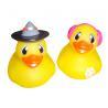 Children Mini Rubber Ducks / Personalized Rubber Duck Bathroom Set Yellow Color for sale