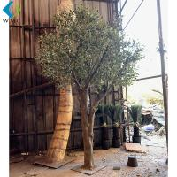 Buy cheap Green Leaves Artificial Olive Tree Various Style For Indoor Outdoor Ornament product