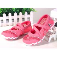Buy cheap Princess Style Children Sports Shoes , Kids Strap Shoes Mesh Upper Cartoon Pattern product