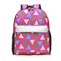 Pink Printing Polyester Kids School Backpacks For Teenage Girls 28*37*12 CM  for sale