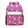 Pink Printing Polyester Kids School Backpacks For Teenage Girls 28*37*12 CM for sale