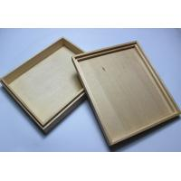 Buy cheap Custom Logo Wooden Wedding Photo Album Box , Wooden Photo Box With Hinged Lid / Lock product