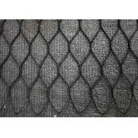 Black Oxide Hand Woven Wire Rope Mesh , Stainless Steel Diamond Wire Mesh Fencing