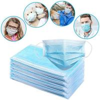 Buy cheap Soft 3 Ply Disposable Mask / Non Woven Face Mask With Elastic Ear Loop from wholesalers