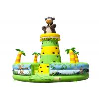 China Monkey Jungle Inflatable Rock Climbing Bounce House , Water Park Blow Up Rock Climbing Wall on sale