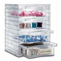 Buy cheap Tower Design Acrylic 4 Drawer Organizer With Quick Delivery product