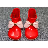 Buy cheap Comfortable Little Kids Shoes Childrens Rain Boots Plastic Upper With Bowknot product
