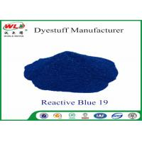 Buy cheap Environmental Friendly Dye Powder Reactive Brill Blue WRE C I Blue 19 100% Strength product