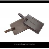 Buy cheap Hot export high quality leather material id card luggage tag/PU luggage tag product