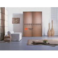 Buy cheap Customized Cupboard MDF + Melamine Louver Door , 9mm Indoor Swing / Sliding Doors product