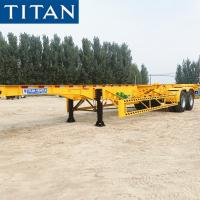 China TITAN 40 feet Container Frame Skeleton Semi Trailer Chassis for Sale on sale