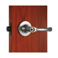 Buy cheap Polished Security Tubular Lock Set Satin Nickel Lever Handle product