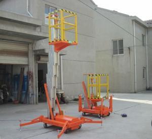 Buy cheap Single mast manual hydraulic lift platform 100kg , 150kg for supermarket product
