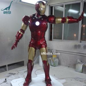 China Action Figure Life Size Fiberglass Statue Iron Man for Sale on sale
