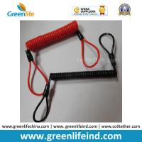 Buy cheap Red/Black Custom Size Plastic PU Covered Wire Core Anti-theft Warning Coiled Cables product