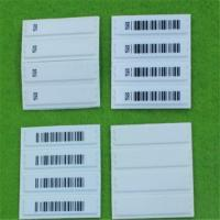 Buy cheap QIDA high detection rate round customized cloth Soft label with barcode printing product