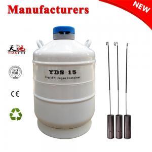 China Biological liquid nitrogen tank 15 L animal semen storage container on sale