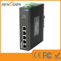 Buy cheap Din Rail Unmanaged Ethernet Gigabit 5 Port Network Switch  1Gbps 0.9Mpps product