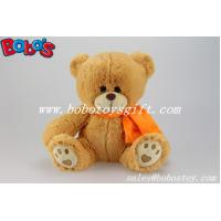 Buy cheap Custom Plush Teddy Bear With Orange Scarf And Embroidery Paw product