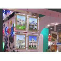 Quality Real Estate Window Crystal LED Light Box Display Single Sided With Steel Cable for sale