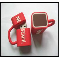 Buy cheap wholesale OEMNovelty Coffee Cup Usb Flash Drives, pvc usb flash drive rubber usb chip product