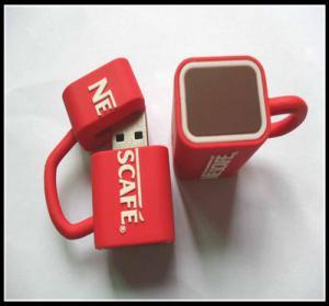 Buy cheap оптовая вспышка Усб кофейной чашки ОЭМНовельты управляет, обломок усб привода вспышки усб пвк резиновый product