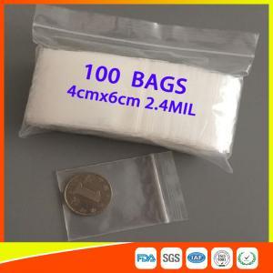 Buy cheap Sachets en plastique clairs réutilisables de dessus de fermeture éclair, petits sacs zip-lock imperméables pour des bijoux product