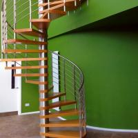 Buy cheap Interior Modern Design Stainless Steel Glass Spiral Staircase for Attic product