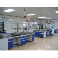 Buy cheap Steel C Frame Wood Lab Furniture , Counter Top Island Table For Laboratory product