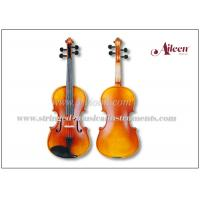 Buy cheap Advanced Student Musical Instruments Violin Outfit , Warm Gold Brown Stain Acoustic Violin product